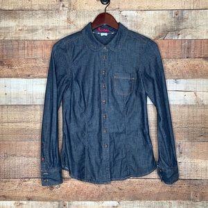 Boden Denim Button Down Long Sleeve Shirt 4